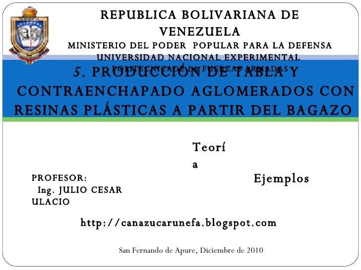 REPUBLICA BOLIVARIANA DE VENEZUELA MINISTERIO DEL PODER  POPULAR PARA LA DEFENSA UNIVERSIDAD NACIONAL EXPERIMENTAL  POLITE...