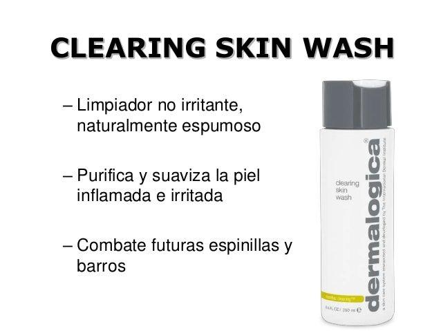CLEARING SKIN WASH – Limpiador no irritante, naturalmente espumoso – Purifica y suaviza la piel inflamada e irritada – Com...