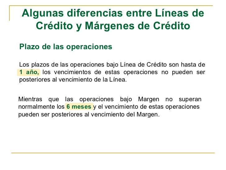 161b36a137e6 Líneas de crédito y márgenes de crédito.