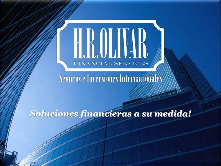Soluciones financieras a su medida!