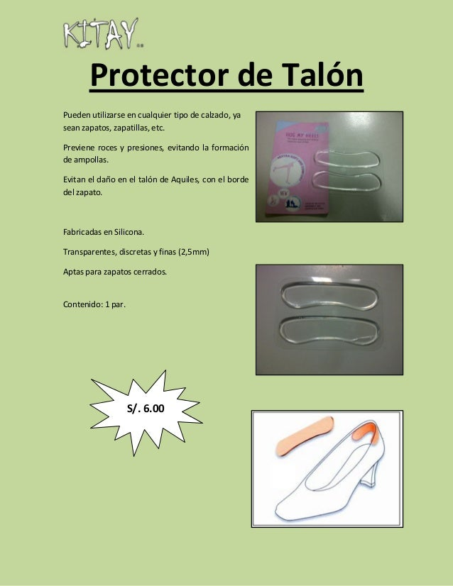 ProtectordeTalón Puedenutilizarseencualquiertipodecalzado,ya seanzapatos,zapatillas,etc. Previeneroces...