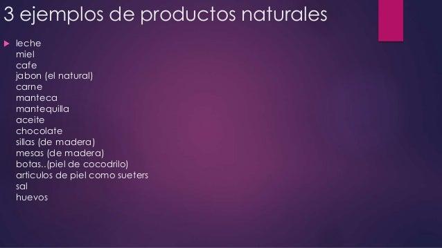 Productos naturales ejemplos