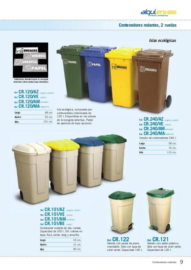 100 litros MUGAR Cubo DE Basura 100L para Recogida de residuos