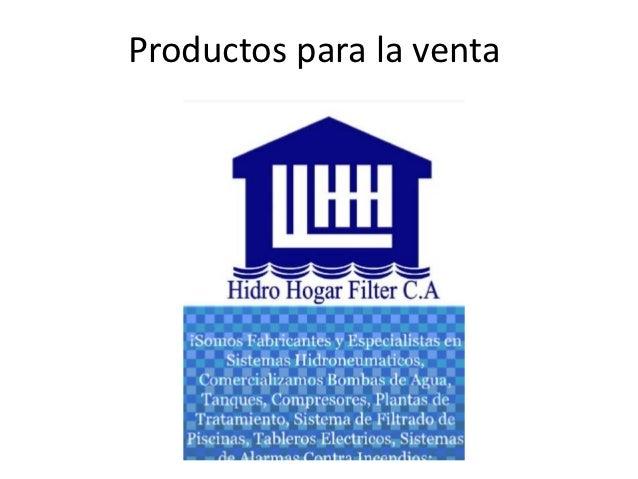 Productos para la venta
