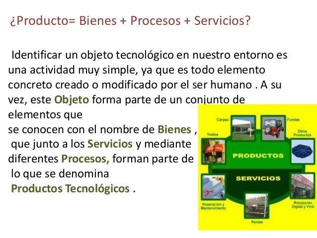 Productos tecnol gicos for Procesos de produccion de alimentos