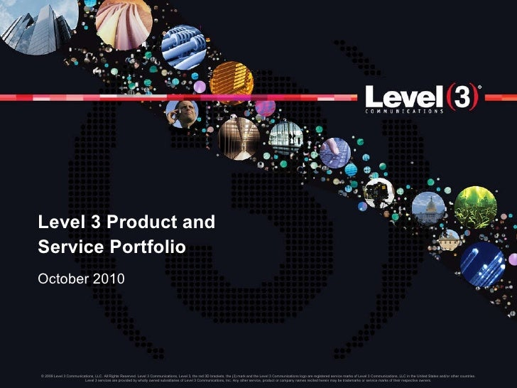 Level 3 Product and Service Portfolio October 2010