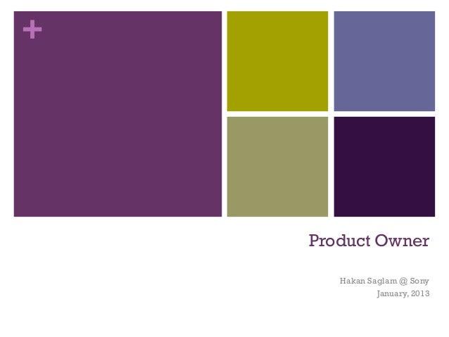 +    Product Owner       Hakan Saglam @ Sony               January, 2013