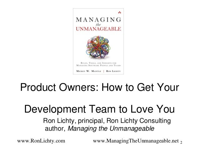 Product owners - how to get your development team to love you (product school, 8.16) Slide 2