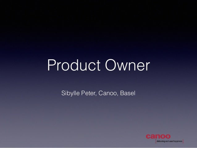 Product Owner Sibylle Peter, Canoo, Basel