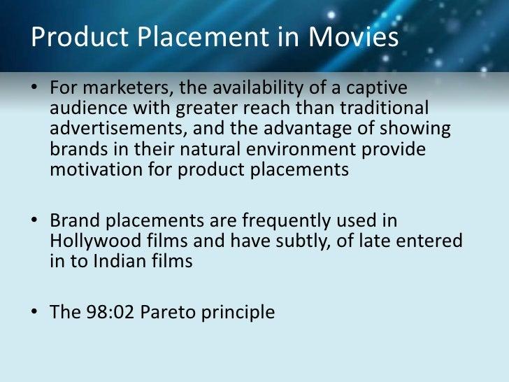 Advantage disadvantage product placement movie