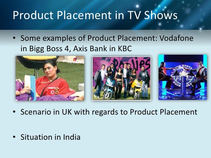 Product Palcement In Movies Tv Shows Songs