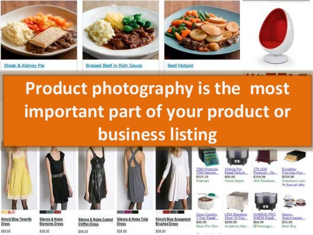 Product photography is the most important part of your product or business listing
