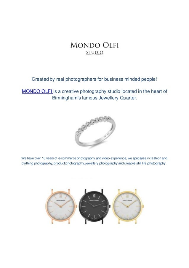 Created by real photographers for business minded people! MONDO OLFI is a creative photography studio located in the heart...
