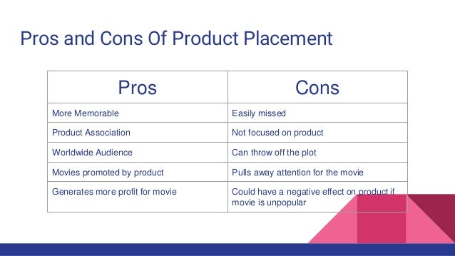 8 Pros and Cons of Product Placement