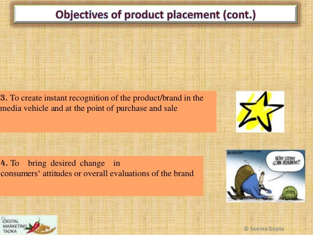 3. To create instant recognition of the product/brand in the media vehicle and at the point of purchase and sale  4. To br...
