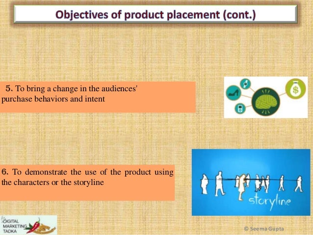 5. To bring a change in the audiences' purchase behaviors and intent  6. To demonstrate the use of the product using the c...
