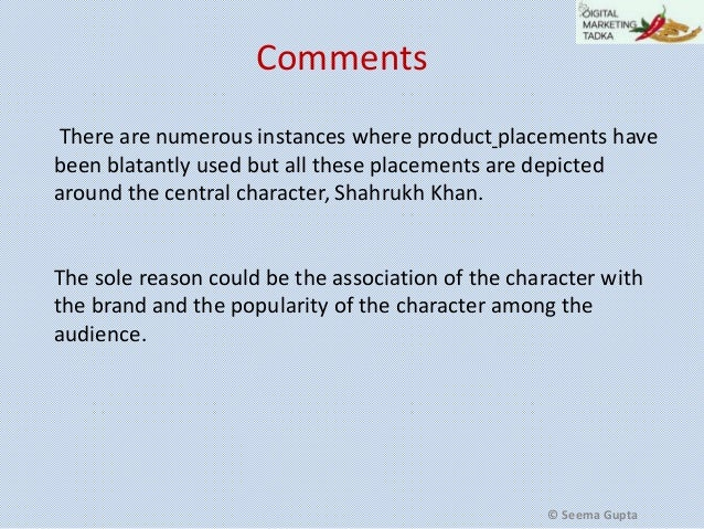 mmi product placement case study 2015-8-31  case study on product placement - part1  the purpose of the case is to understand product placement and to study its impact on indian  the case has used.