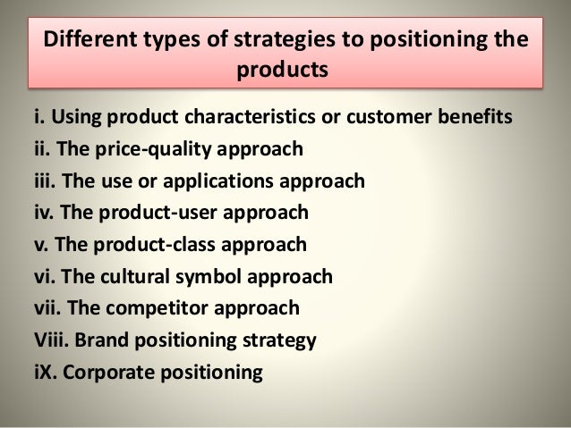 what is product positioning pdf