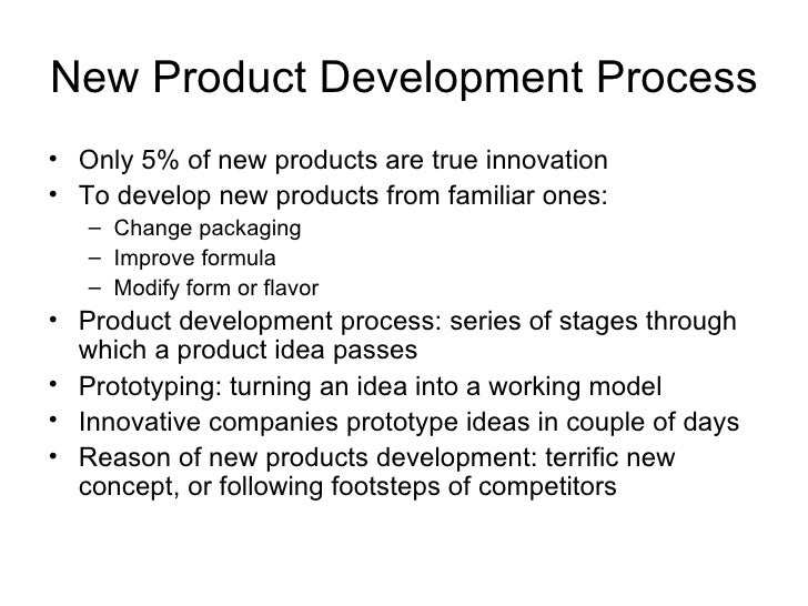 new product development process essay Product development in the apparel industry (new product development) the product development process is a team effort by a number of people involved.
