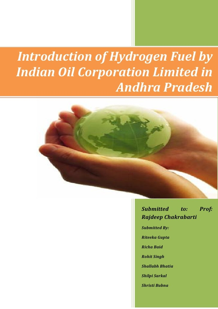 Introduction of Hydrogen Fuel byIndian Oil Corporation Limited in                 Andhra Pradesh                     Submi...