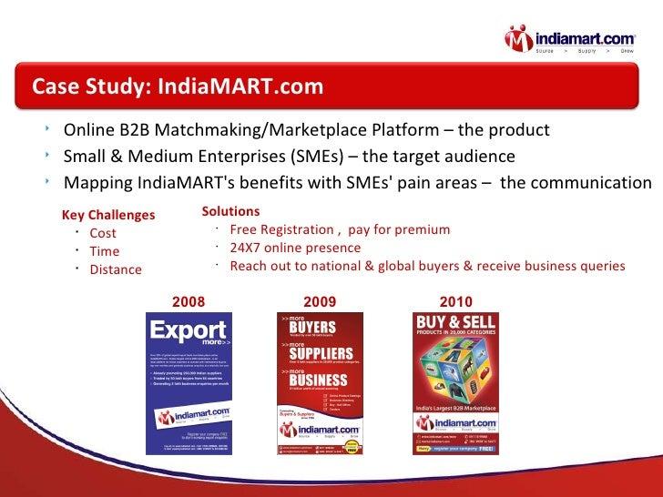 <ul><li>Online B2B Matchmaking/Marketplace Platform – the product </li></ul><ul><li>Small & Medium Enterprises (SMEs) – th...