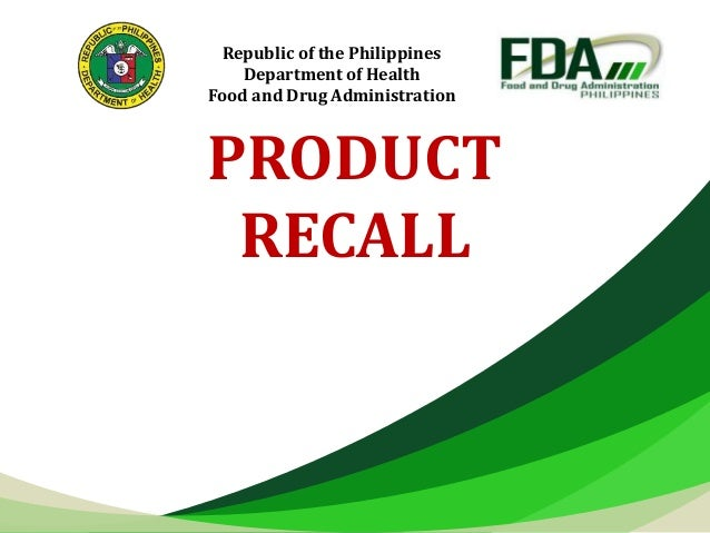 Product recall overview