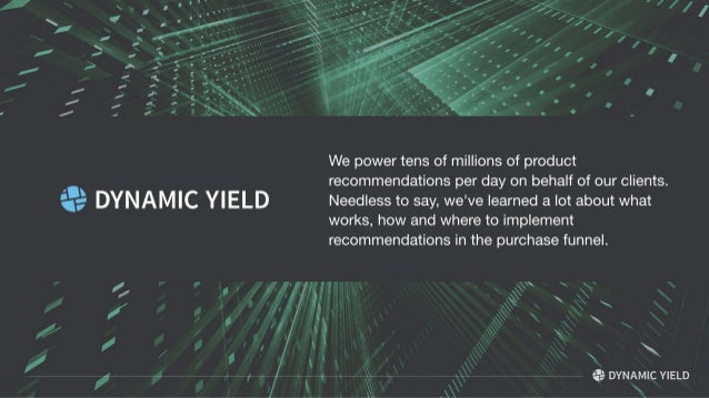 Improving Revenue through Dynamic Product Recommendations Slide 2