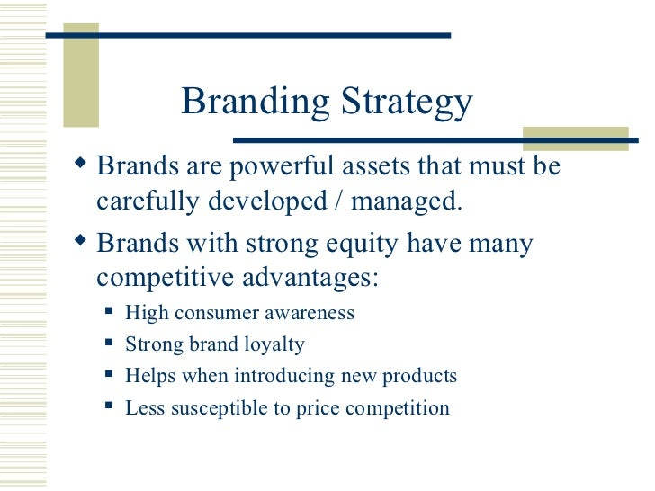 Product Services And Branding Strategies