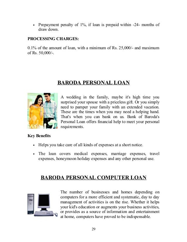 Product & services of bank of baroda