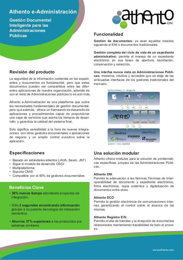 www.athento.comAthento e-AdministraciónGestión DocumentalInteligente para lasAdministracionesPúblicasRevisión del producto...