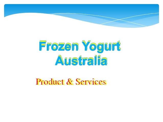Frozen yogurt distributors