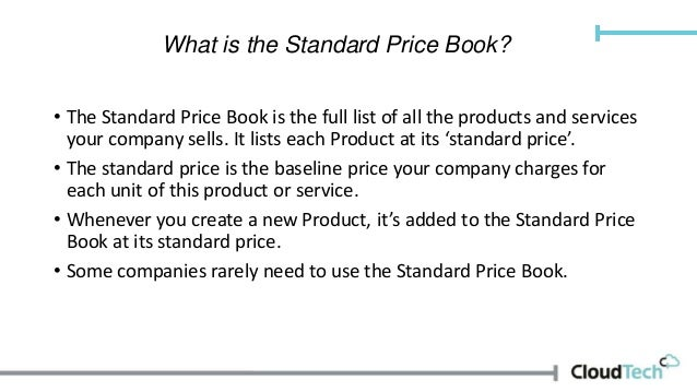 products and price books in salesforce