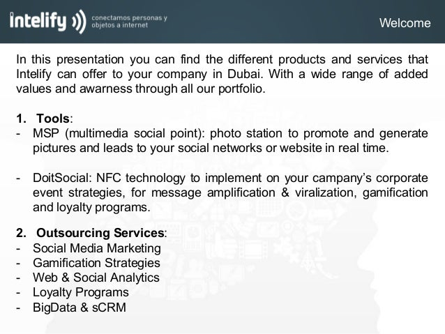 Products services intelify - DoitSocial Slide 2