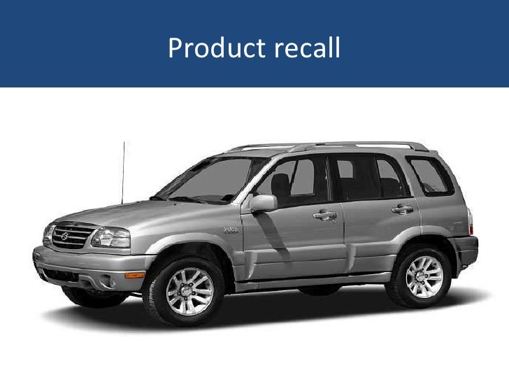 Product recall<br />