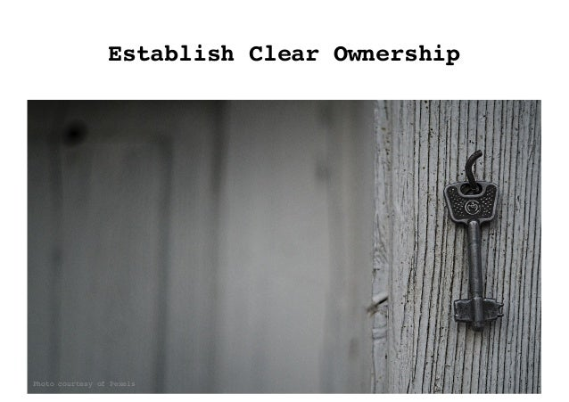 Establish Clear Ownership Photo courtesy of Pexels