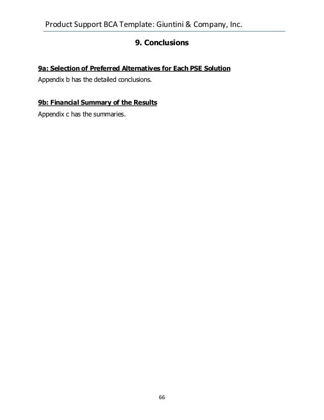 Dod Joint Weapons System Product Support Business Case Analysis Examp…