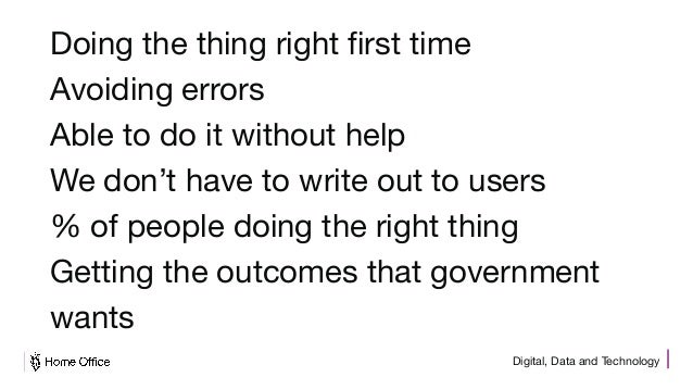 Digital, Data and Technology Doing the thing right first time Avoiding errors Able to do it without help We don't have to ...