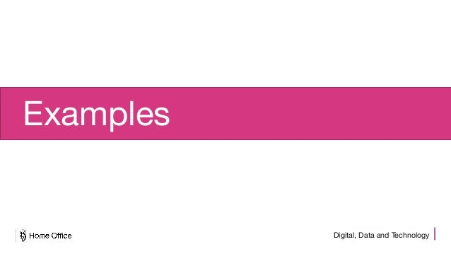 Digital, Data and Technology Examples
