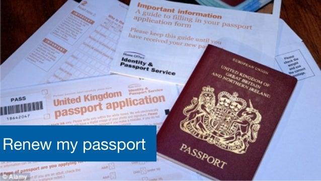 Digital, Data and Technology Renew my passport