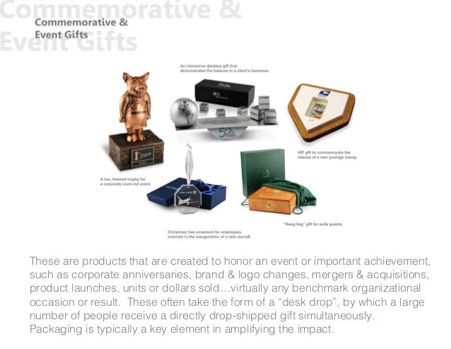 These are products that are created to honor an event or important achievement, such as corporate anniversaries, brand & l...