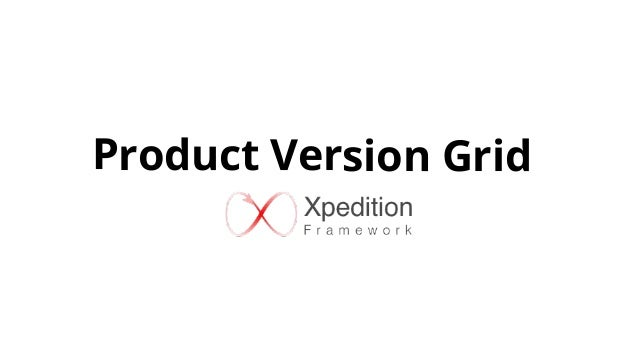 Product Version Grid