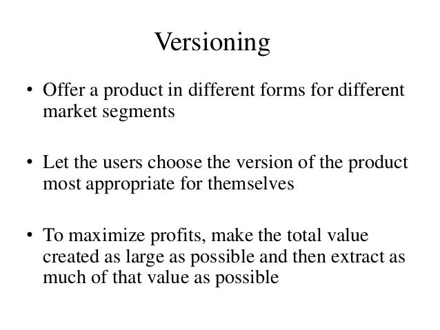 Product Versioning