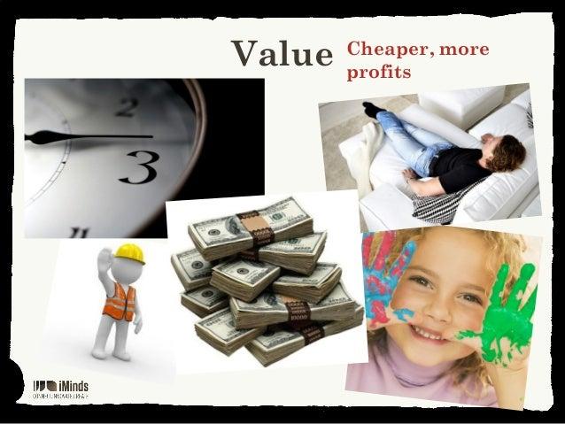 Value Cheaper, moreprofits
