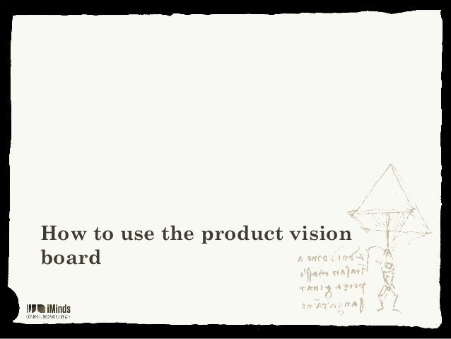How to use the product visionboard