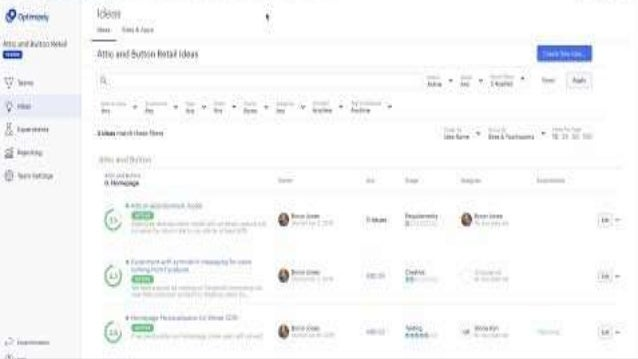 Coming Soon ENTERPRISE SCALE Experiment Reports ● Easily and quickly report on experiment results ● Acts as a system of re...