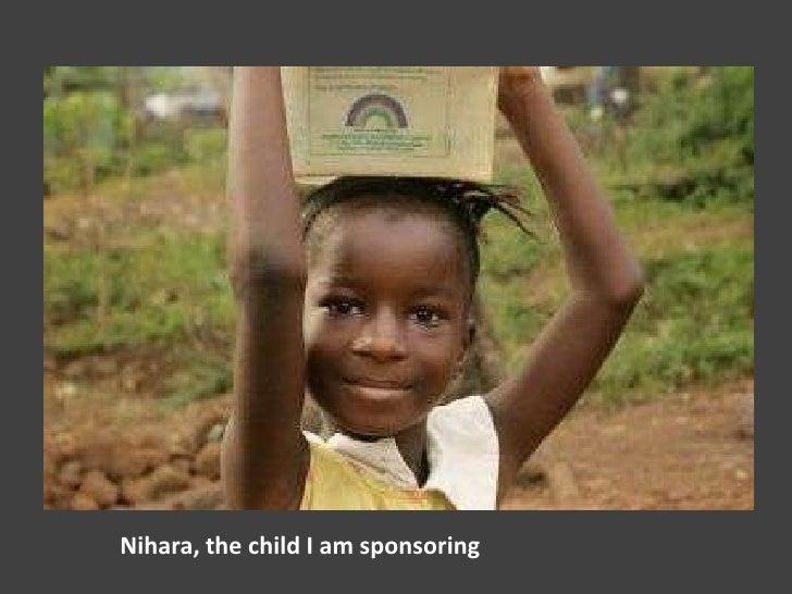 Nihara, the child I am sponsoring