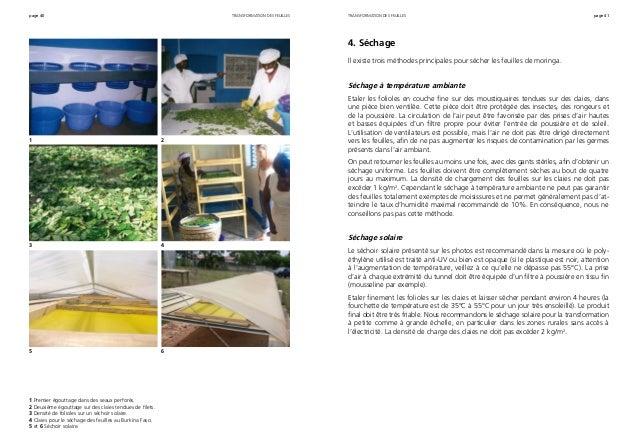 page 40 page 41 1 Premier égouttage dans des seaux perforés. 2 Deuxième égouttage sur des claies tendues de filets. 3 Dens...