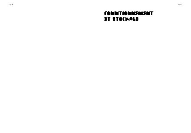 page 44 page 45 CONDITIONNEMENT ET STOCKAGE