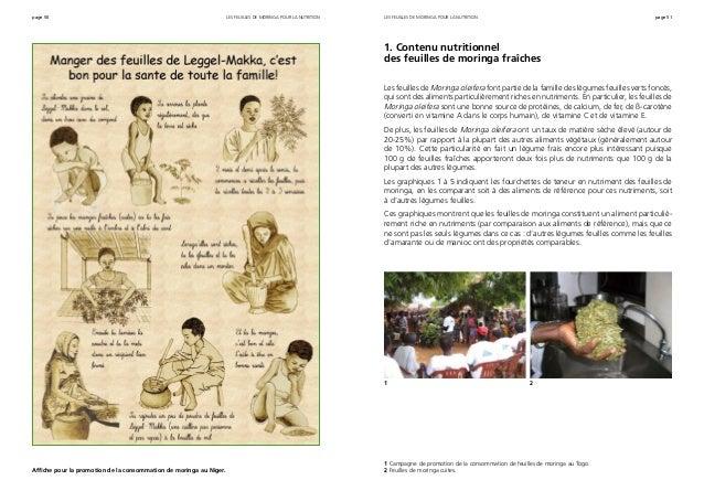 page 50 page 51les feuilles de moringa pour la nutrition Affiche pour la promotion de la consommation de moringa au Niger....