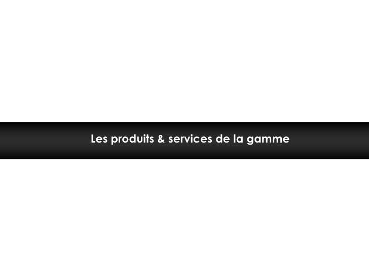 Les produits & services de la gamme<br />
